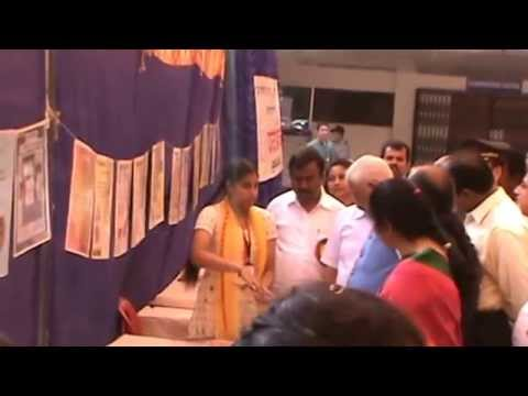 Governor of Karnataka Inaugurating Exhibition on Samskritam