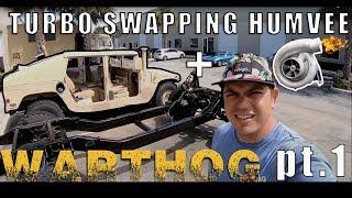 """Warthog Build"" TURBOCHARGED 4-speed SWAP Humvee  *Tear Down*  [Part 1]   VLOGS"