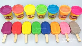 Learn Colors Play Doh Popsicle Ice Cream Peppa Pig Elmo Donald Duck Surprise Toys Disney Princess