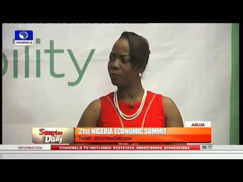 Sunrise Daily Focus On 21st Nigeria Economic Summit 14/10/15  Pt 1