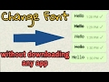 Download WhatsApp Tricks Change fonts without downloading any app! in Mp3, Mp4 and 3GP