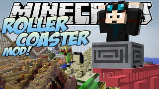 Minecraft   ROLLERCOASTER MOD! (Become a Rollercoaster Tycoon!)   Mod Showcase