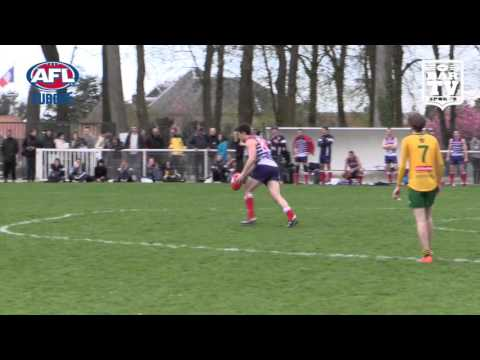 2016 AFL Europe ANZAC Day Men's Highlights - Australia v France