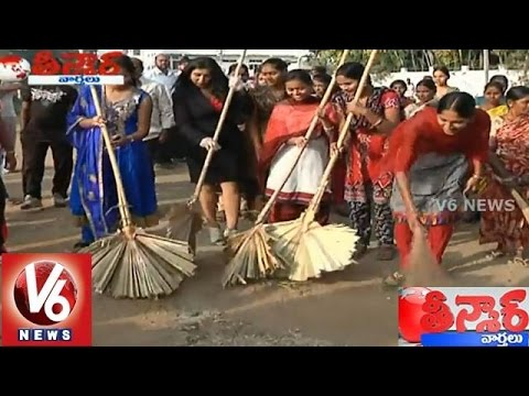 Miss South Asia Pratyusha Guduru participates in Swachh Bharat - Teenmaar News (24-01-2015)