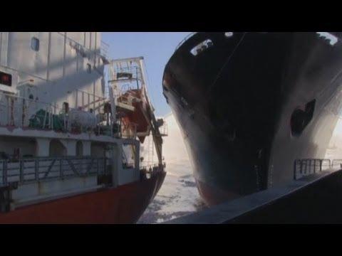 Japanese whaling vessel 'rams' Sea Shepherd activist ships