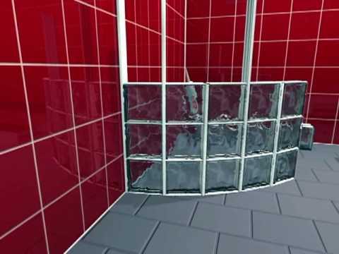 Block lock 360 sistema de montaje pared curvada con - Cocinas con bloques de vidrio ...