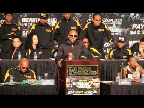 FLOYD MAYWEATHER v MARCOS MAIDANA 2 - FULL POST FIGHT PRESS CONFERENCE / MAYHEM