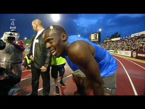 Ostrava GOLDEN SPIKE 2010 - 300m Men - USAIN BOLT won in 30.97 sec MR! Video