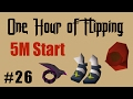 [OSRS] FLIPPING ALL ITEMS FROM A 5M CASH START [Episode #26] A One Hour Flipping Challenge
