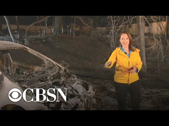Town of Paradise, California almost entirely destroyed by Camp fire