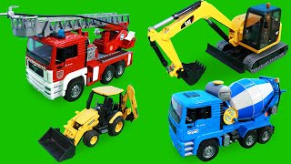 Fire Truck, Tractor, Excavator, Trucks & Police Cars Construction Toy Vehicles for Kids