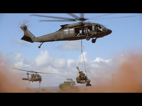 US Army Black Hawks give our gunners a lift
