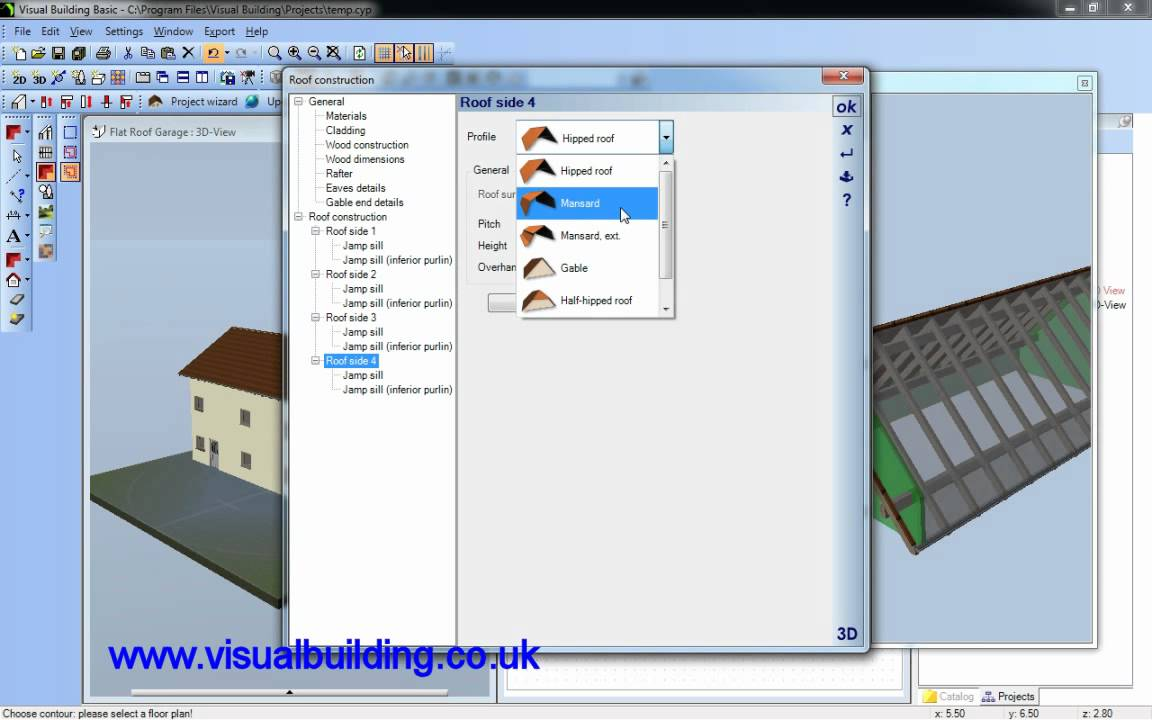 visual building flat roof youtube