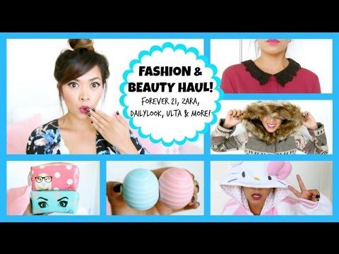 Fashion & Beauty Haul 2014! Zara Forever 21 Zoella Beauty +...