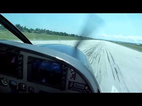 Landing in Biak, Papua, Indonesia - Susi Air Cessna Grand Caravan C208B