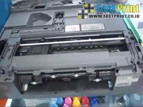 TUTORIAL MEMBONGKAR PRINTER BROTHER DCP J125 UNTUK MENGGANTI HEAD PRINTER