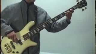AEROSMITH -Three Mile Smile- Bass cover
