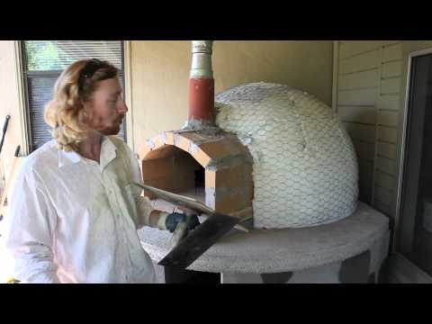 How to stucco a domed wood burning Pizza Oven