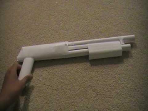 Как сделать бумаги пистолет стреляет без обдува на tubethe.com