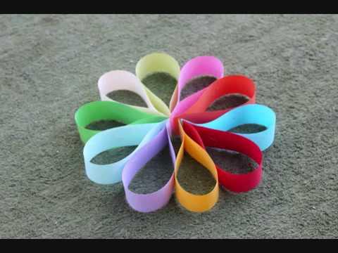 יצירת פרח צבעוני לסוכה