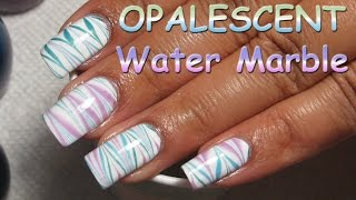 Sinful Colors Opalescent Water Marble (White) | Nail Art Tutorial
