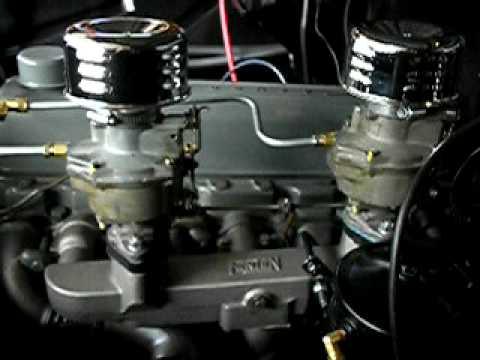 1957 Chevy 235 Fenton Dual Carbs