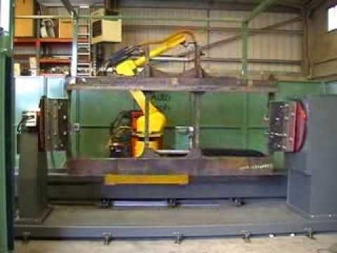 Robotic linear slide system MIG welding