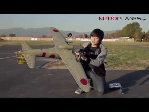 New Airfield 1400mm Zero FMS RC Airplane  Flight Review