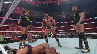 Randy Orton vs The New Nexus (Raw 4/18/11) HD 720p