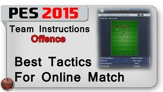PES 2015: Best tactics for online matches. (Offence)