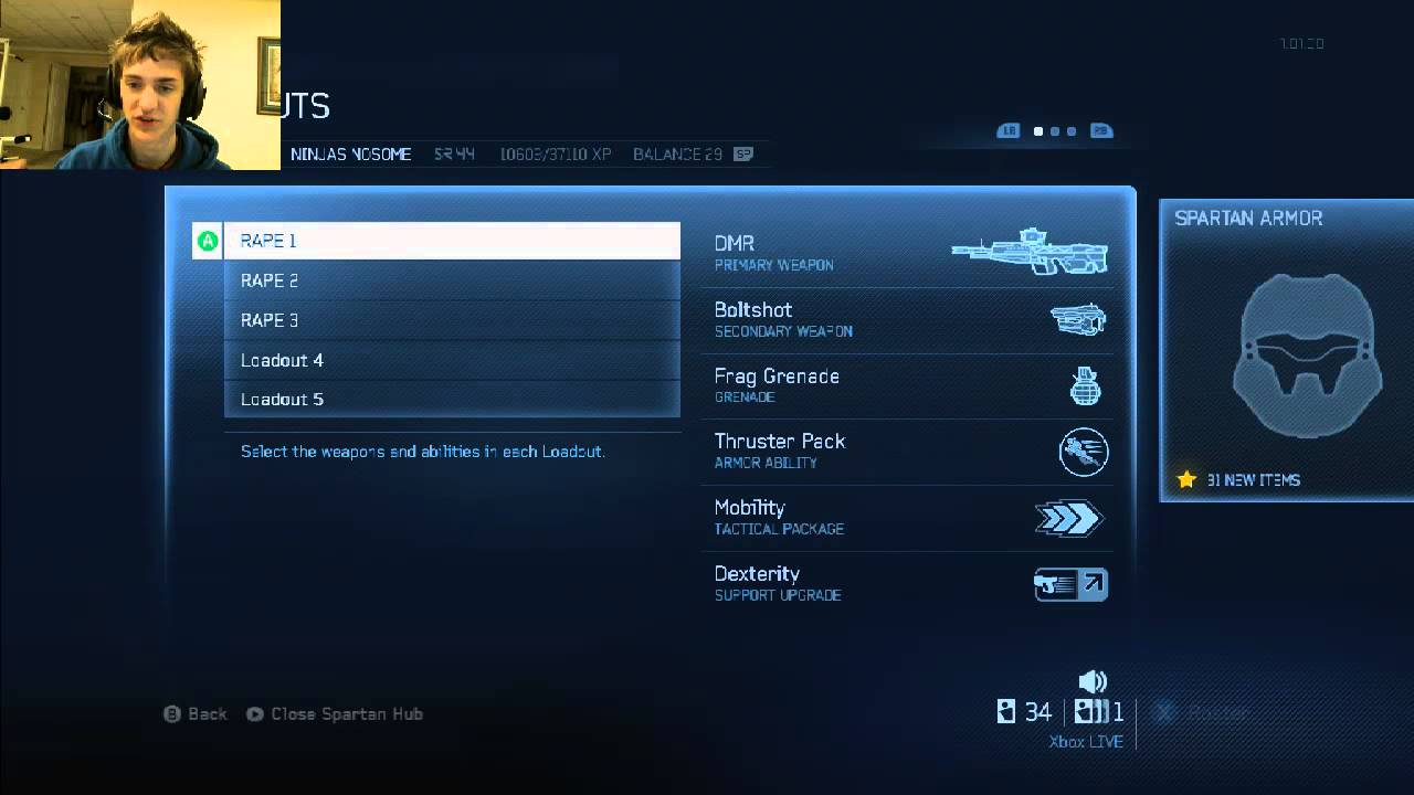 Mlg Loadouts Halo 4 Halo 4 Loadout Choices With