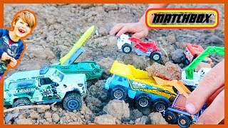 Mini Diggers and Trucks Playing in the Dirt