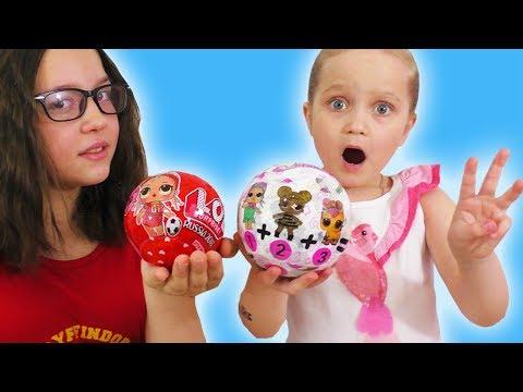 ЛОЛ НОВИНКИ 3 Куклы в Одном Шаре и Лол Футболистка / Подделки Doll LOL Surprise