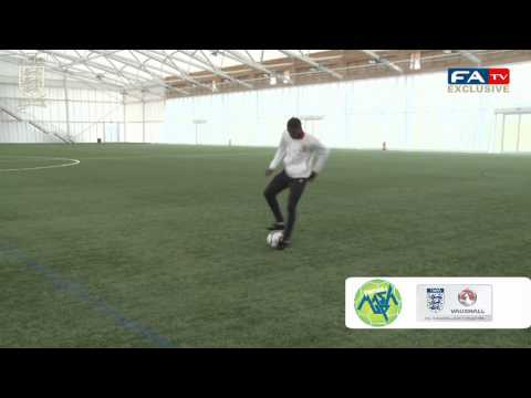 Wilfried Zaha shows his skills for Vauxhall Football Mash Up | FATV