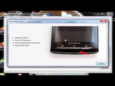 Como Reparar un Sony Ericsson Xperia x8 - Restauracion al Android 2.1