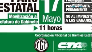 14-05-2013 PARO Y MOVILIZACION 17 DE MAYO