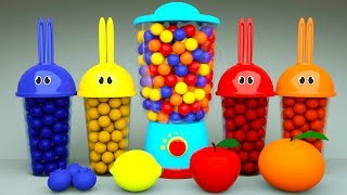Learn Colors with Bunny Mold and Blender Toy Xylophone Finger Family Song for Kids Children