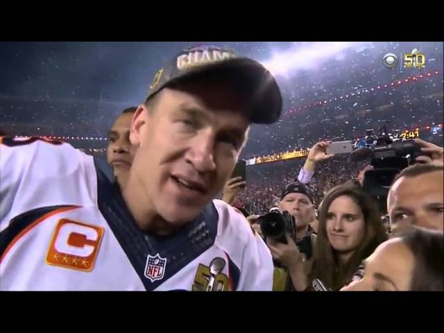 Denver Broncos Super Bowl Champions Peyton Manning Drinking Budweiser