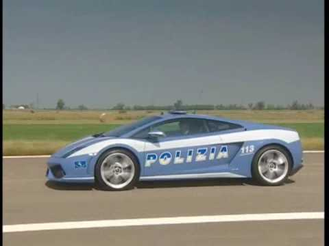 Lamborghini Police Car in Action