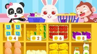 Siêu thị của Gấu Trúc nhỏ - Bé đi siêu thị mua đồ ăn - Babybus Kid Games