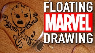 magic water marker: Marvel Drawings FLOAT OFF THE PAGE!
