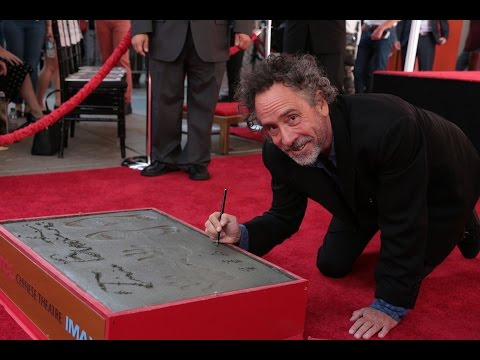 Tim Burton Hand & Footprint Ceremony With Winona Ryder: Miss Peregrine's Home For Peculiar Children