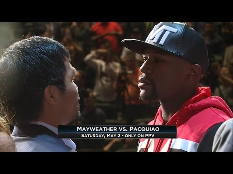 Floyd Mayweather, Manny Pacquiao Meet Face to Face