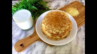 Millet flour pancakes | Healthy gluten free pancake recipe