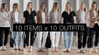 10 items x 10 outfits   Spring capsule lookbook