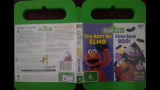 123 Sesame Street Home Video Elmo Says Boo & The best of Elmo Australian DVD