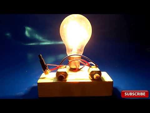 Piezo Igniter Free Energy Device Light Bulbs 220V Using 2 Motor 2018 project exhibition technology thumbnail