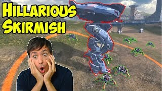 War Robots FUNNY Skirmish: Humans Vs Spiders Gameplay Moments WR