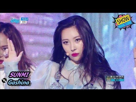 [HOT] SUNMI - Gashina, 선미 - 가시나 Show Music Core 20170902