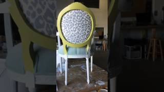 Paint upholstered chair 1